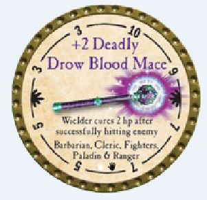 +2 Deadly Drow Blood Mace 2015